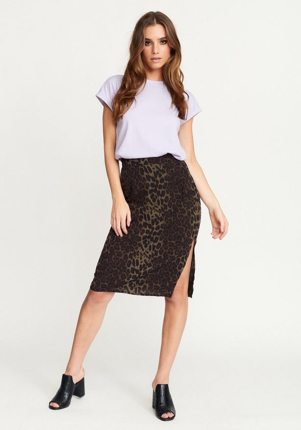 Leo split skirt - Green leo