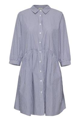 Lorianna tunic dress - Chalk and blue stripes