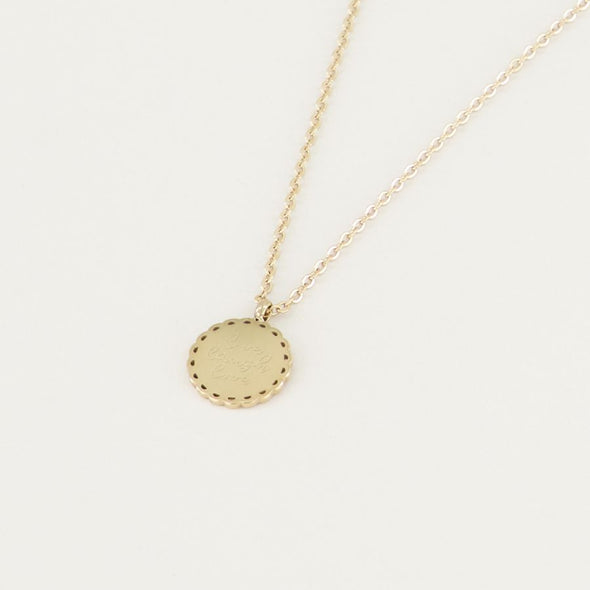 Ketting live laugh love bedel - Goud