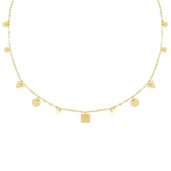 Necklace short figure - goud