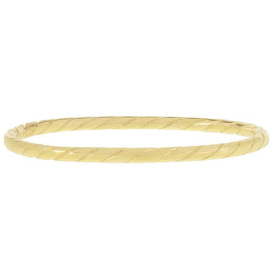 Bracelet bangle touwpatroon - Goud