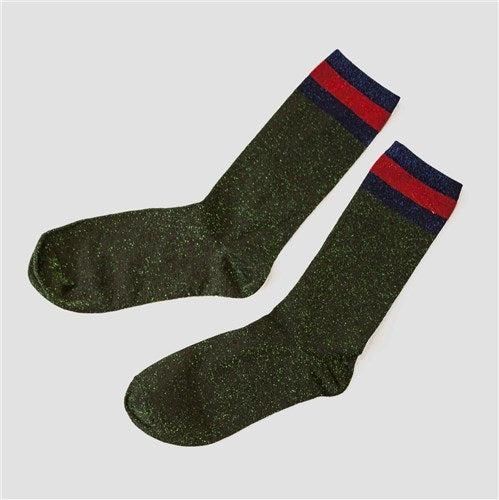 Socks glitter - Green red blue