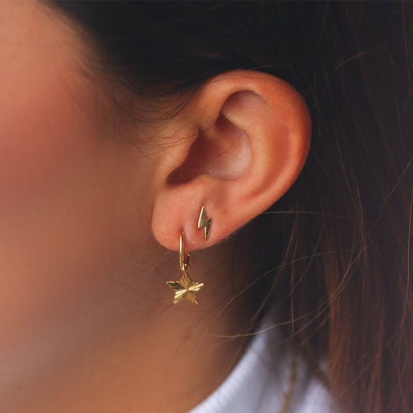 Earrings - Studs bliksem goud