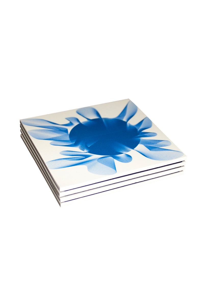 Moonlight Me Blue Coasters
