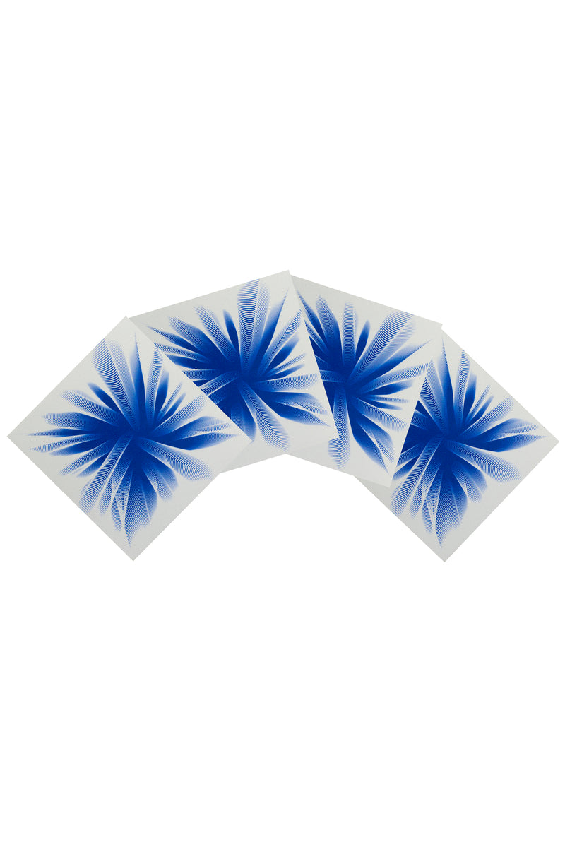 Drape Me Blue Coasters