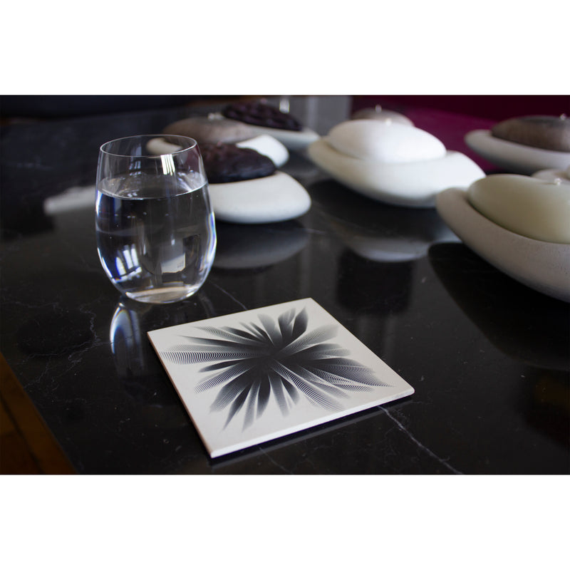 Drape Me Black Coasters