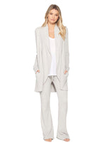 Barefoot Dreams: CozyChic Lite Circle Cardigan - Silver