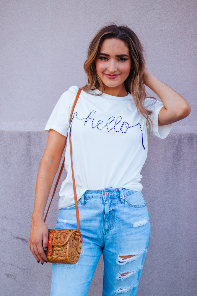 Hello Graphic Tee
