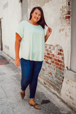 Dolman Sleeve Knit Blouse - Plus Size