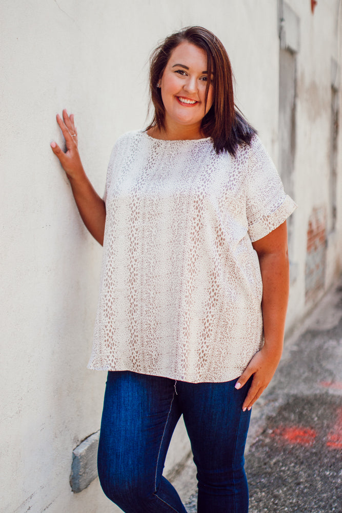 When You Know Blouse - Cream Plus Size