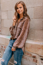 All About It Leopard Blouse - Plus Size
