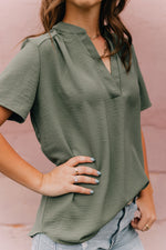 Look Ahead Blouse -Olive
