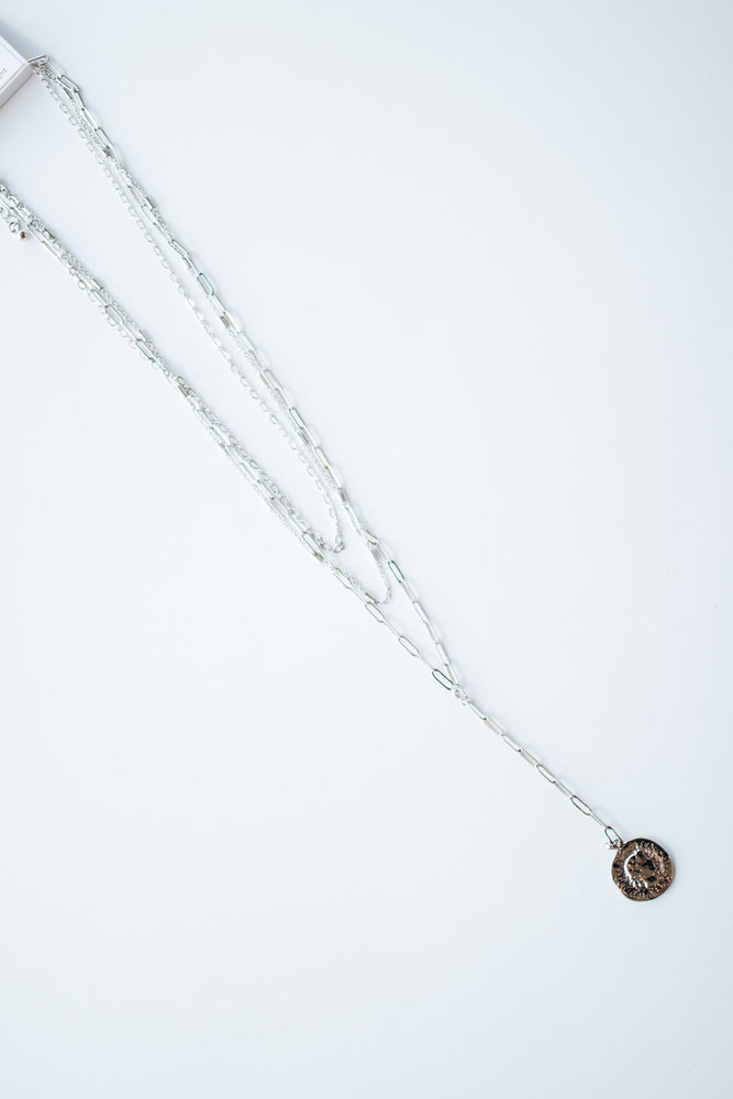 Rosa Silver Layered Necklace