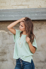 Answer The Call Blouse - Sage