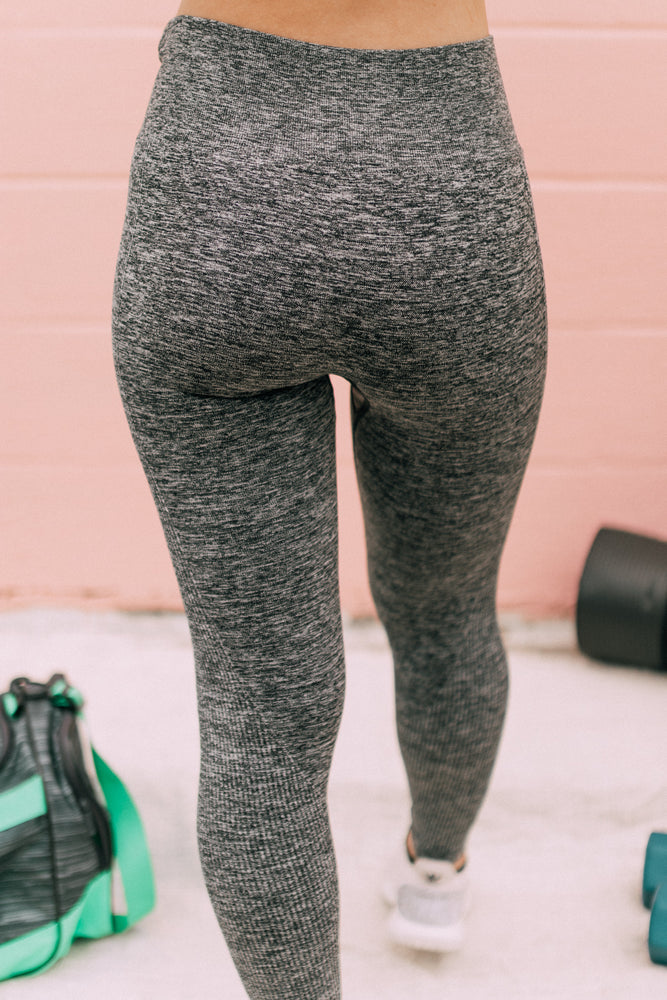 Ribbed Seamless Melange Leggings
