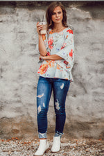 In The Meadows Blouse - Cool Blue