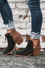 Index Leopard/Black Booties