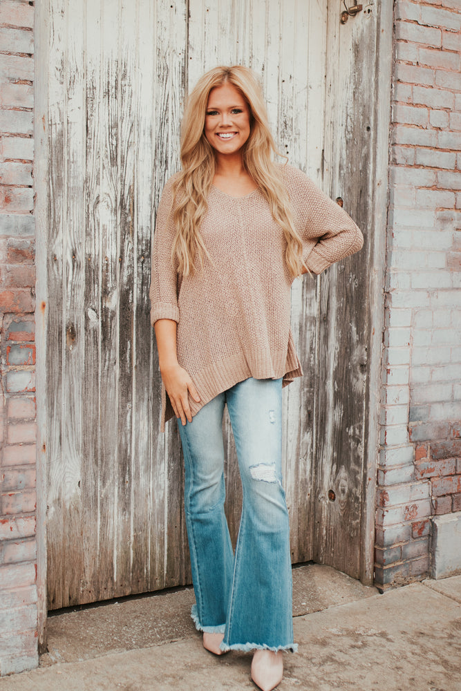Sweet Surrender Sweater - Taupe
