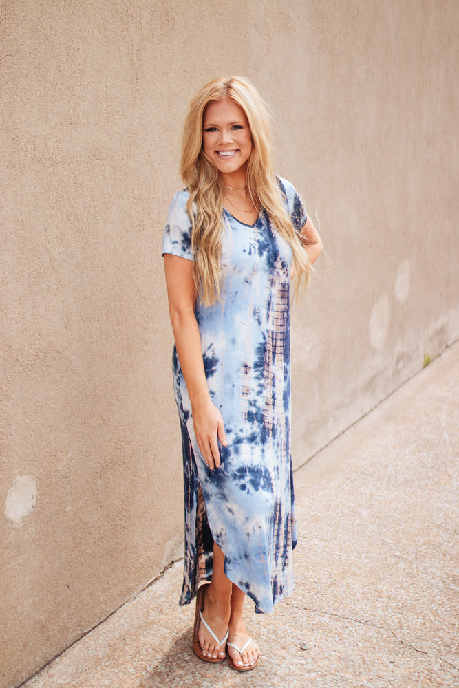 On Your Own Path Tie Dye Maxi Dress