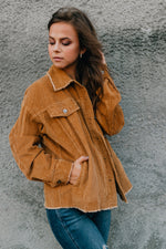 Hear Me Roar Corduroy Jacket - Camel