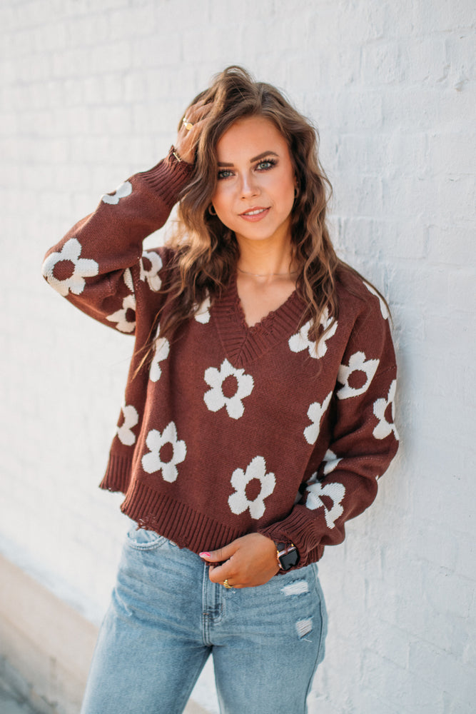 Lets Get Lost Sweater - Taupe