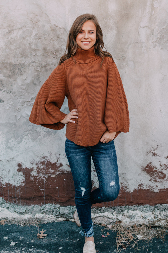 Has It All Sweater - Rust
