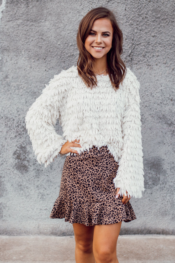 Lead The Way Leopard Skirt