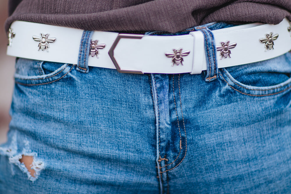 Bee Belt - White
