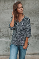 Vita Navy Blouse