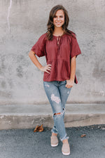 Shelby Blouse- Rust
