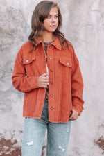Hear Me Roar Corduroy Jacket - Ginger