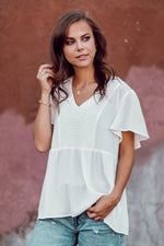 Keeping It Simple Blouse - White