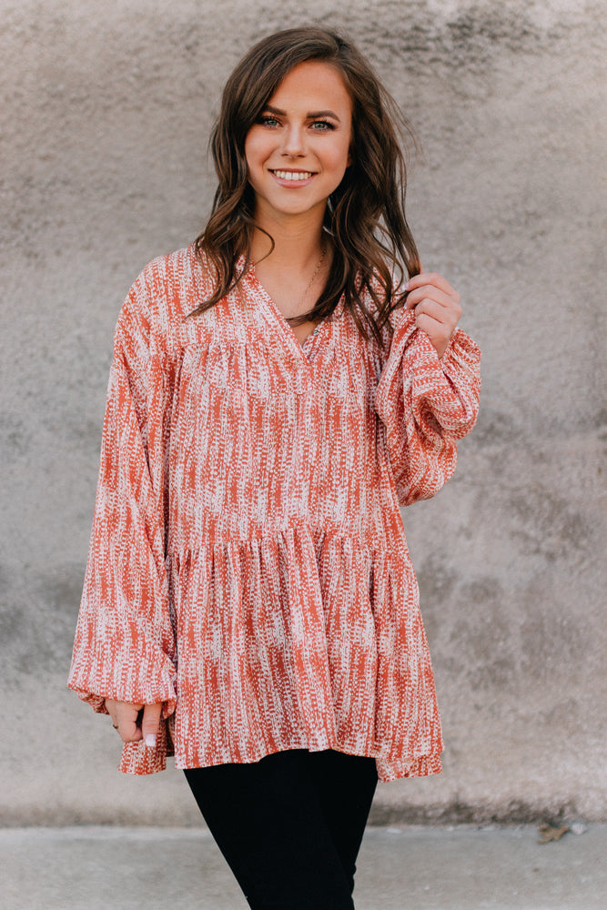 Westport Blouse -Coral