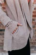 Barefoot Dreams: CozyChic Lite Circle Cardigan - Taupe