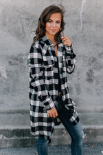 Can't Get Enough Flannel - Black