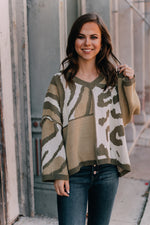 Mix Match Animal Color Blocking Sweater