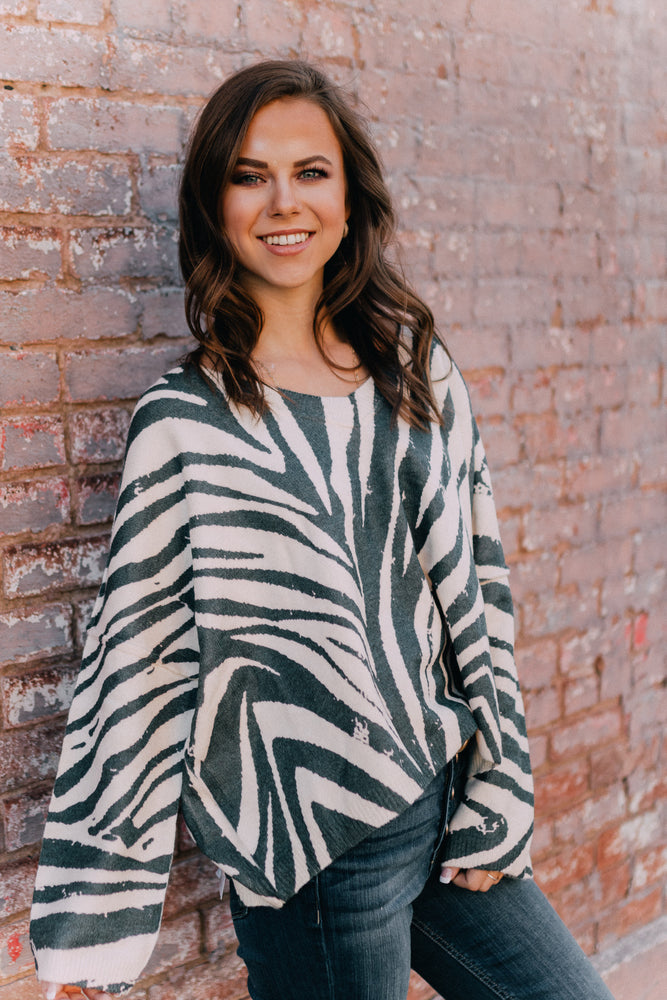 How About Zebra Sweater