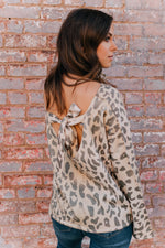 Leopard Tie Back Sweater