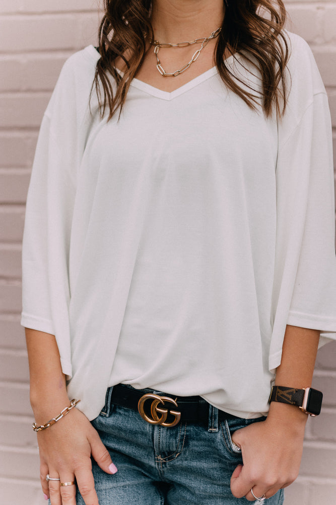 Love All White Blouse