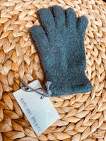 Barefoot Dreams: CozyChic Gloves - Agave Green