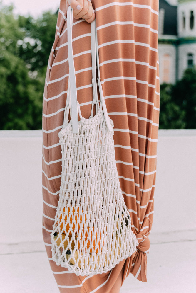 FRUITY NET BUCKET BAG