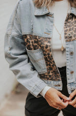 Thats Her Denim Leopard Jacket