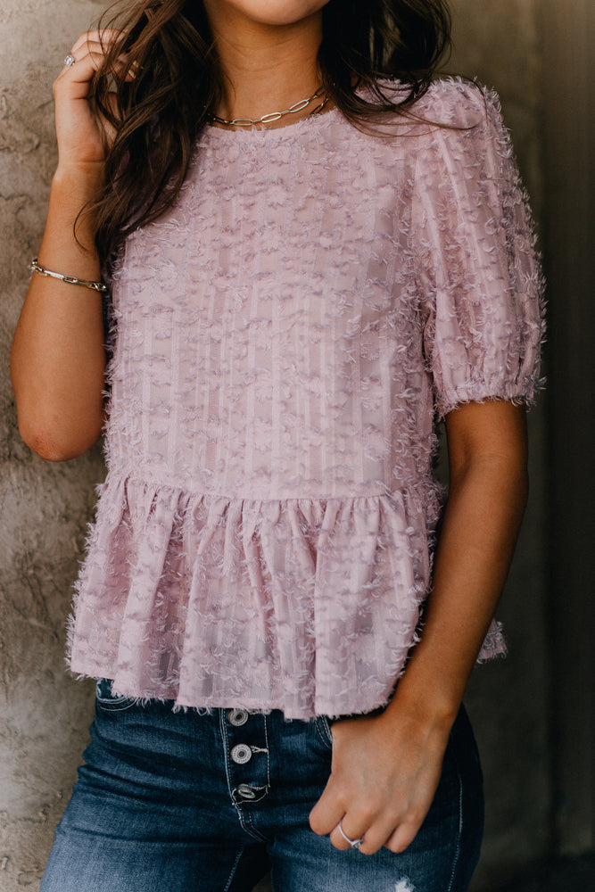 Cross My Heart Top- Blush