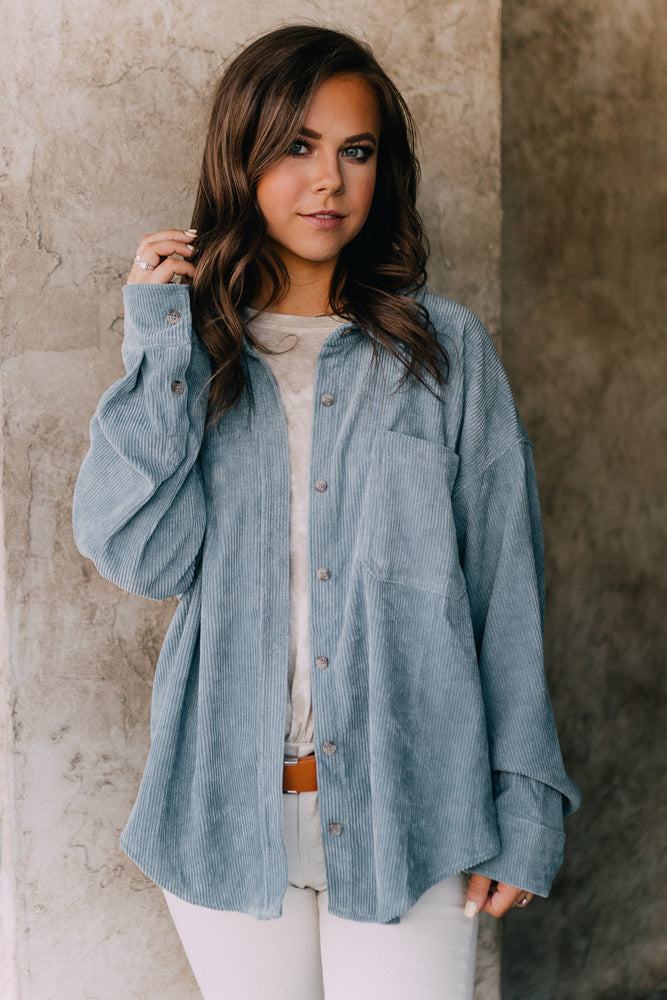 Becca Twist Blouse - Gray Lilac