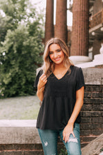 Keeping It Simple Blouse - Black