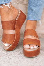 Shamrock Brown Platform - Cognac