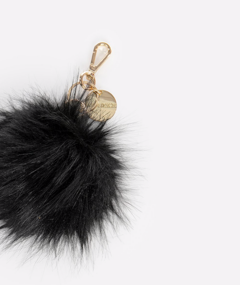 FAWN DESIGN THE POUF KEYCHAIN - BLACK