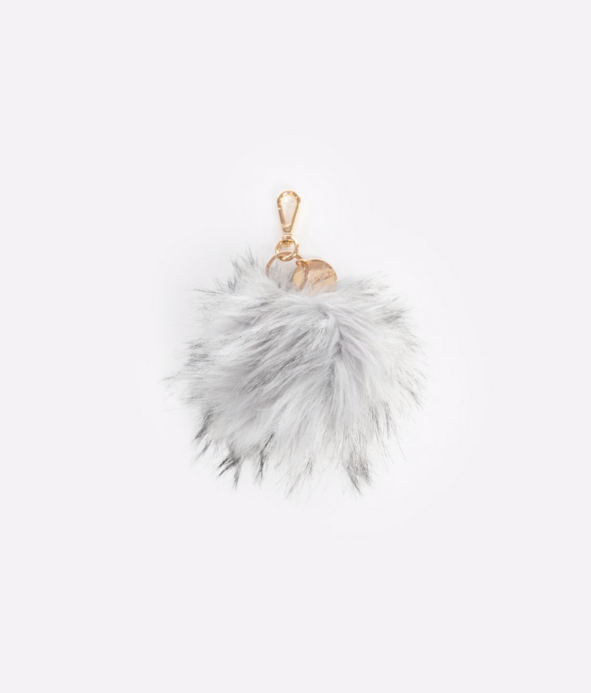 FAWN DESIGN THE POUF KEYCHAIN - GRAY