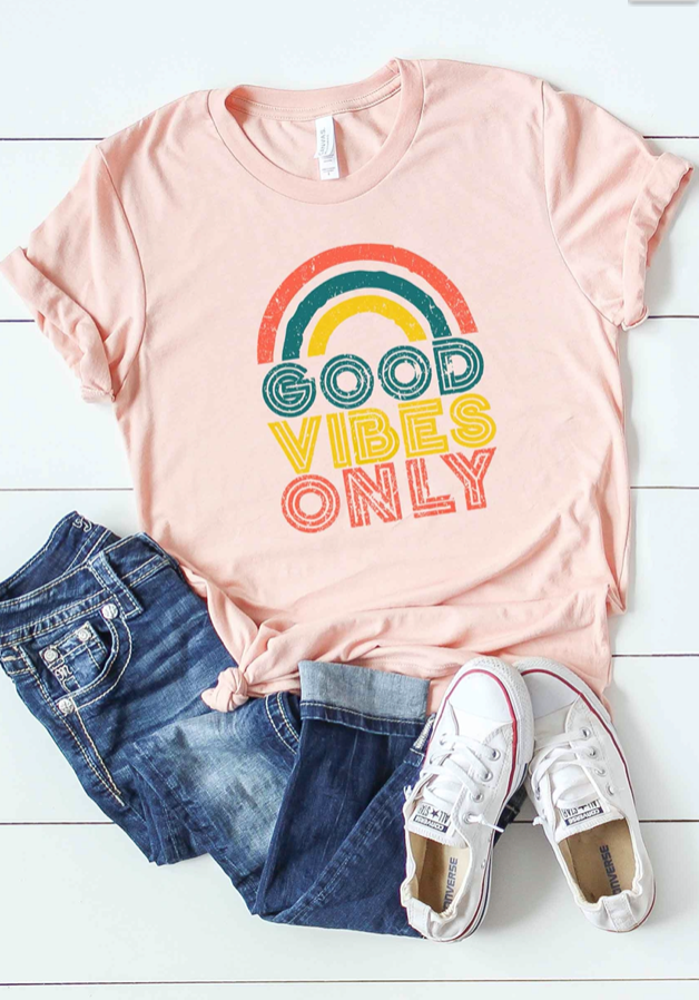 Good Vibes Only Graphic Tee - Plus Size