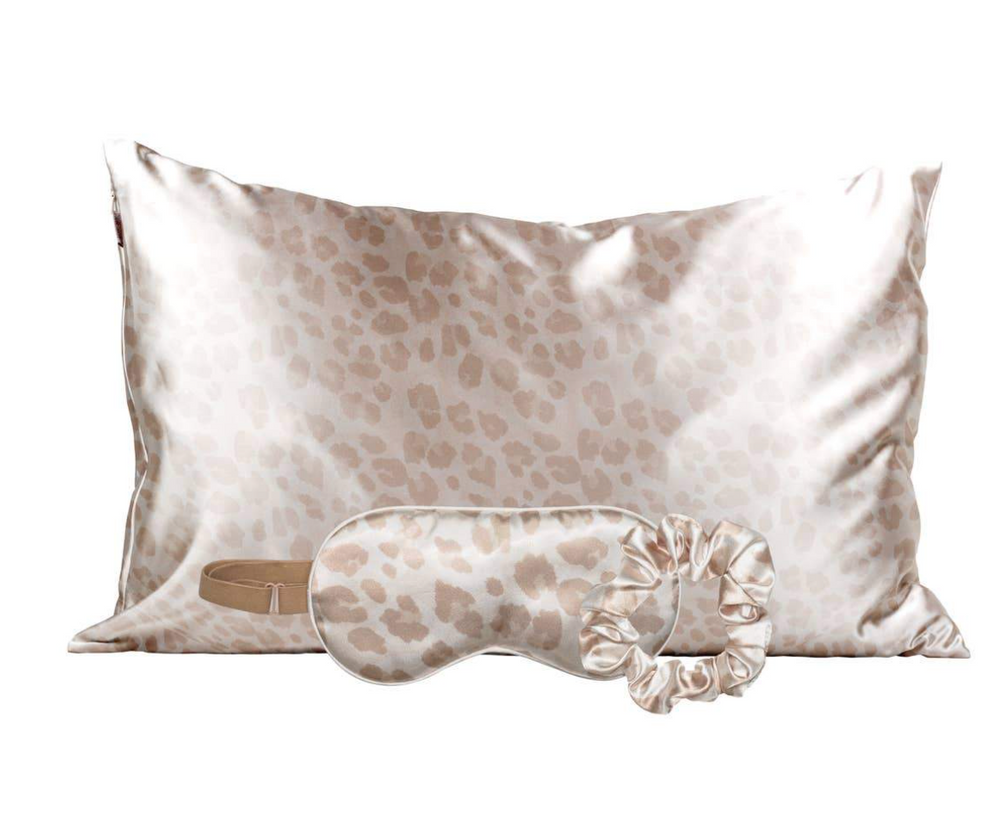 Kitsch Satin Sleep Set - Leopard